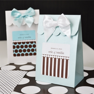 Sweet Shoppe Candy Boxes - Dots and Stripes wedding favors