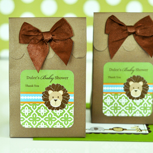Sweet Shoppe Candy Boxes - Jungle Safari wedding favors
