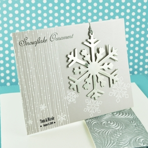 Silver Snowflake Ornament wedding favors