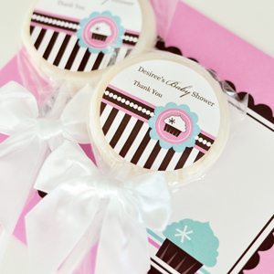 Personalized Lollipop Favors - Cupcake Party wedding favors