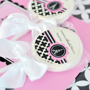 Personalized Lollipop Favors - Parisian Party  wedding favors