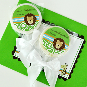 Personalized Lollipop Favors - Jungle Safari  wedding favors