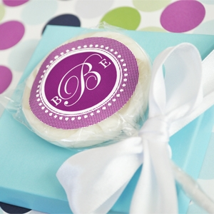 """Something Sweet"" Monogram Personalized Lollipop Favors wedding favors"