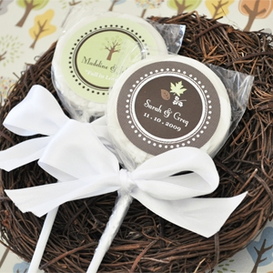 """Fall for Love"" Personalized Lollipop Favors wedding favors"