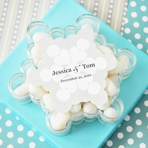 Snowflake Acrylic Boxes wedding favors