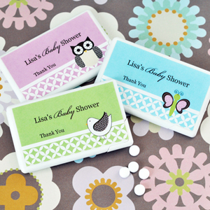 Personalized Baby Animal Mini Mint Favors wedding favors
