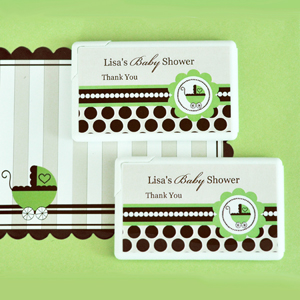 Personalized Mini Mint Favors - Green Baby wedding favors