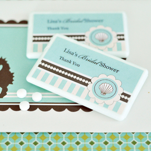Personalized Mini Mint Favors - Beach Party wedding favors