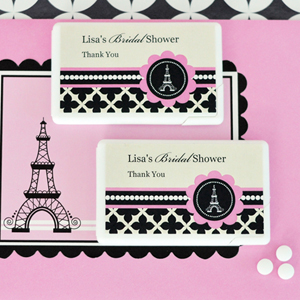 Personalized Mini Mint Favors - Paris Party  wedding favors