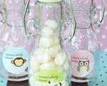 Baby Animal Personalized Mini Glass Bottles  wedding favors