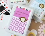 Baby Animals Personalized Playing Cards wedding favors
