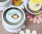 Baby Animals Personalized Round Travel Candle Tins  wedding favors