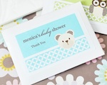 Baby Animals Personalized Tissue Packs  wedding favors