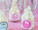 Baby Shower Personalized Mini Glass Bottles  wedding favors