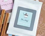 """Apple of My Eye"" Personalized Baby Shower Hot Apple Cider wedding favors"