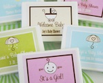 """Babies are Sweet"" Gum Boxes wedding favors"