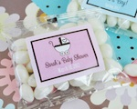 """Babies are Sweet"" Personalized Jelly Bean Packs  wedding favors"