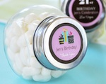 Personalized Birthday Candy Jars  wedding favors
