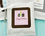 Personalized Birthday Hot Cocoa + Optional Heart Whisk  wedding favors