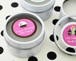 Personalized Birthday Round Candle Tins  wedding favors