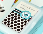 Personalized Playing Cards - Blue Baby wedding favors