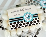 Personalized Jelly Bean Packs - Blue Baby  wedding favors