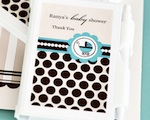 Personalized Notebook Favors - Blue Baby wedding favors