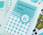 Personalized Playing Cards - Something Blue wedding favors