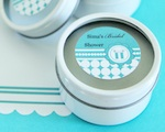 Personalized Round Candle Tins - Something Blue  wedding favors