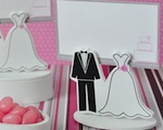 Bride Groom Place Card Favor Boxes with Designer Place Cards wedding favors