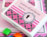 Personalized Gum Boxes - Wedding Shower  wedding favors