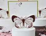 Butterfly Place Card Favor Boxes with Designer Place Cards wedding favors