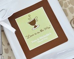 """A Lovely Mix"" Personalized Hot Cappuccino Mix + Optional Heart Whisk wedding favors"