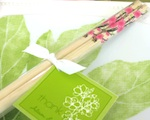 Cherry Blossom Chopsticks wedding favors