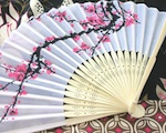 Cherry Blossom Silk Fans wedding favors