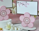 Cherry Blossom Place Card Favor Boxes with Designer Place Cards wedding favors