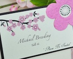 """Please Be Seeded"" Cherry Blossom Plantable Seed Place Cards wedding favors"
