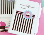 Personalized Notebook Favors - Cupcake Party wedding favors
