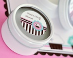 Personalized Round Candle Tins - Cupcake Party wedding favors
