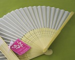 Silk Fan - Blue, Pink & White wedding favors