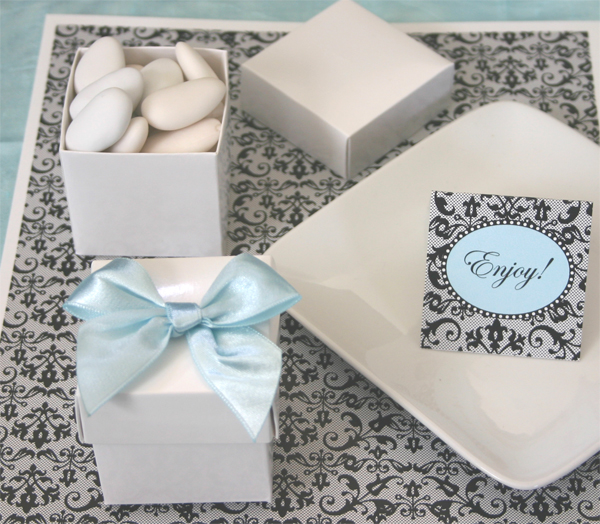 Mini Cube Boxes - Multiple Colors wedding favors