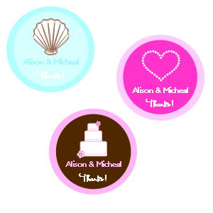 "1.25"" Wedding Theme Labels wedding favors"