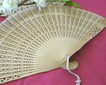 Sandalwood Fan   wedding favors