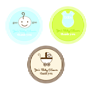 "1.25"" Baby Theme Labels wedding favors"