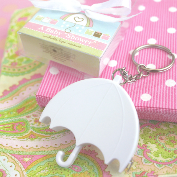 """A Baby Shower"" Umbrella Tape Measure wedding favors"