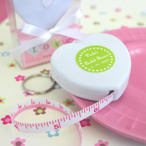 """Measure Up Some Love"" Heart Tape Measure wedding favors"