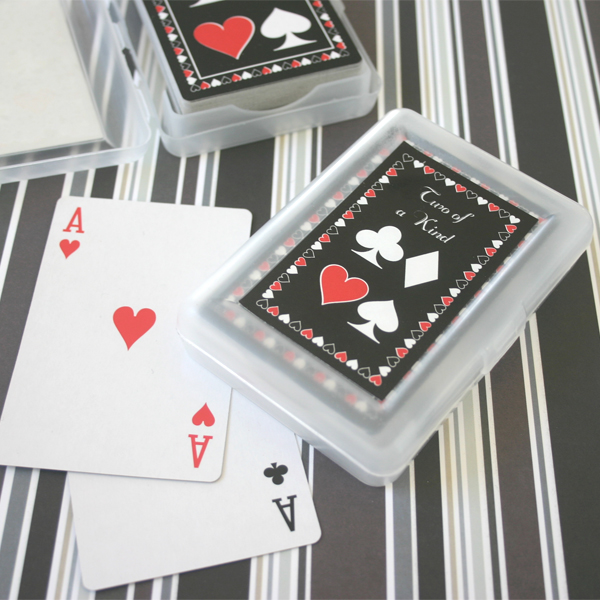 """Two of a Kind"" Playing Cards wedding favors"