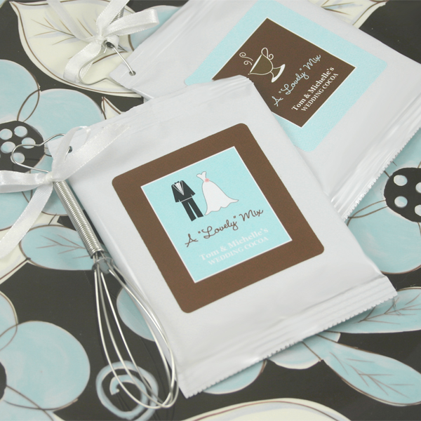 """A Lovely Mix"" Personalized Hot Cocoa with optional whisk wedding favors"