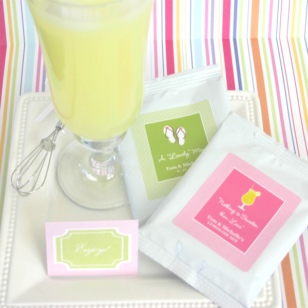 """Nothing is Sweeter Than Love"" Personalized Lemonade with optional whisk wedding favors"