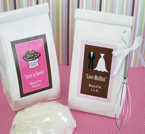 """Love Muffins"" Muffin Mix wedding favors"
